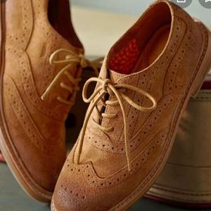 Fossil Oxford derby suede shoes